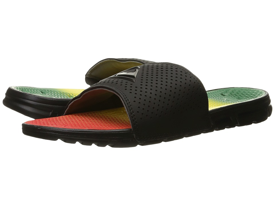 Quiksilver - Horizon (Red/Yellow/Green) Men's Slide Shoes