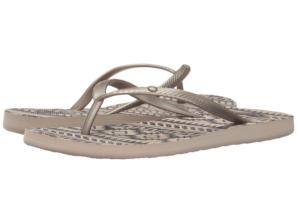 Roxy - Bermuda (Gold/Black) Women's Sandals