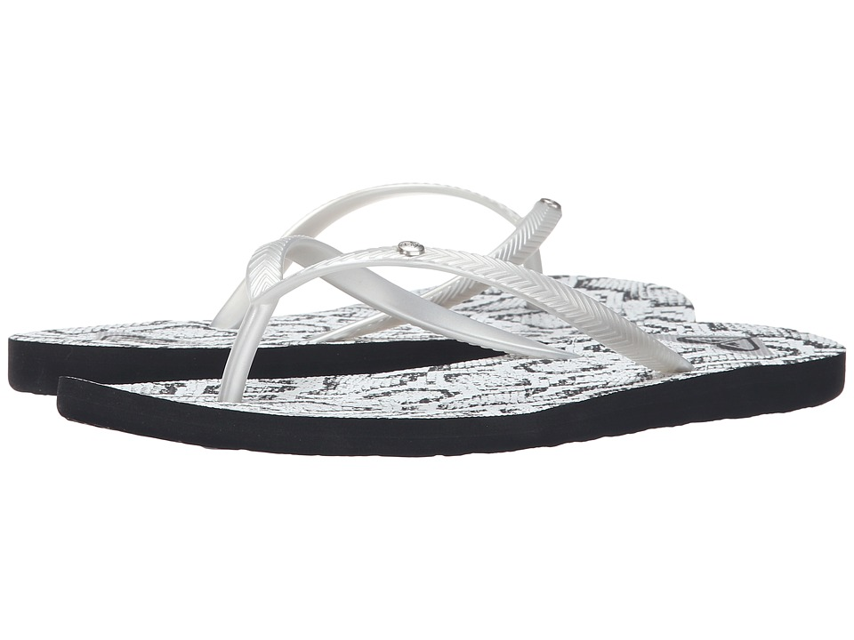 Roxy - Bermuda (Black/Metallic Silver) Women's Sandals