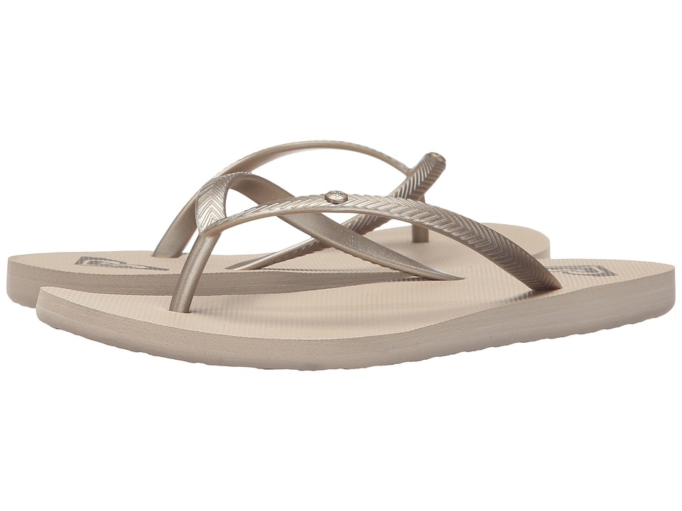Roxy - Bermuda (Gold Cream) Women's Sandals