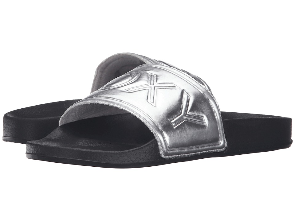 Roxy - Slippy (Black/White) Women's Sandals