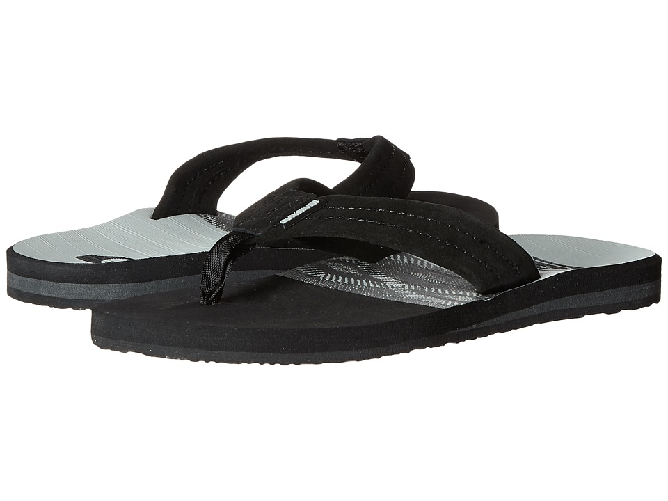 Quiksilver - Carver Suede Art (Grey/Black/Grey) Men's Sandals