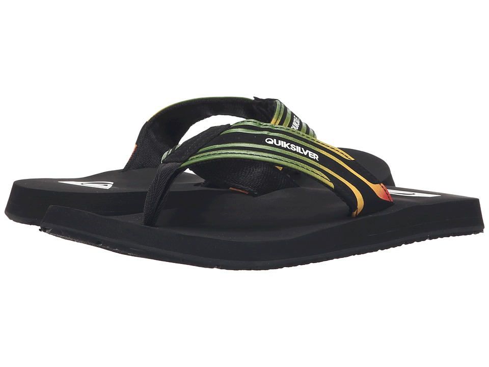 Quiksilver - Monkey Wrench Print (Red/Yellow/Green) Men's Sandals