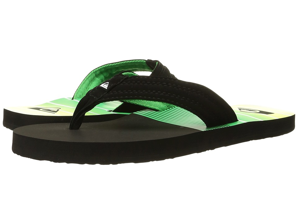 Quiksilver - Basis (Black/Green/Yellow) Men's Sandals