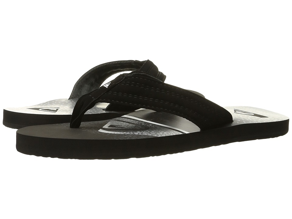 Quiksilver - Basis (Black/White/Grey) Men's Sandals