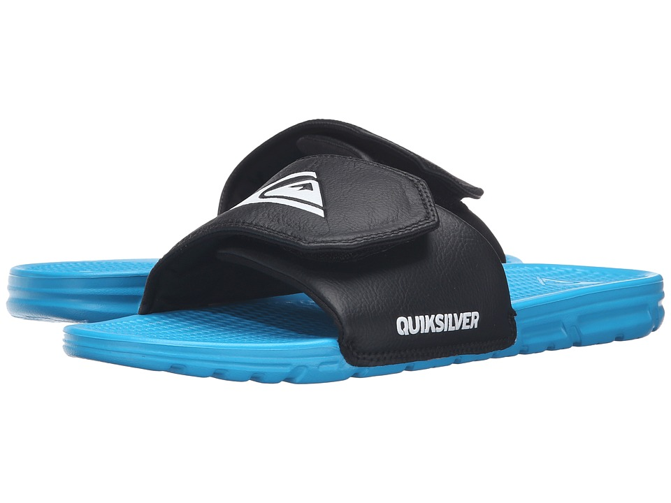 Quiksilver - Shoreline Adjust (Black/Blue/Blue) Men's Slide Shoes