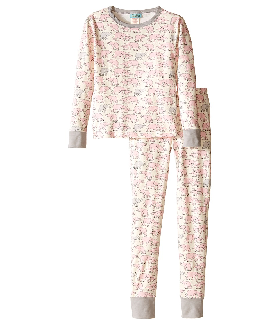 BedHead Kids - Snug Fit L/S Classic PJ (Big Kids) (Pink Elephants) Girl's Pajama Sets