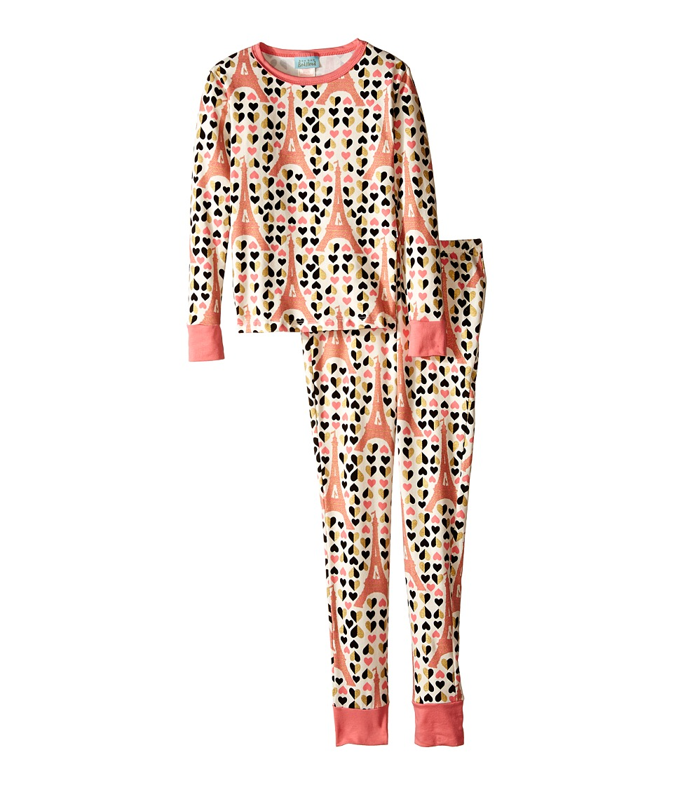 BedHead Kids - Snug Fit L/S Classic PJ (Big Kids) (Heart Eiffel) Girl's Pajama Sets