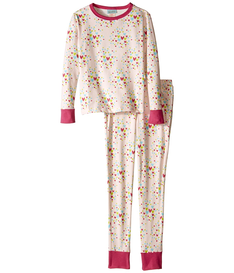 BedHead Kids - Snug Fit L/S Classic PJ (Big Kids) (Confetti Hearts) Girl's Pajama Sets