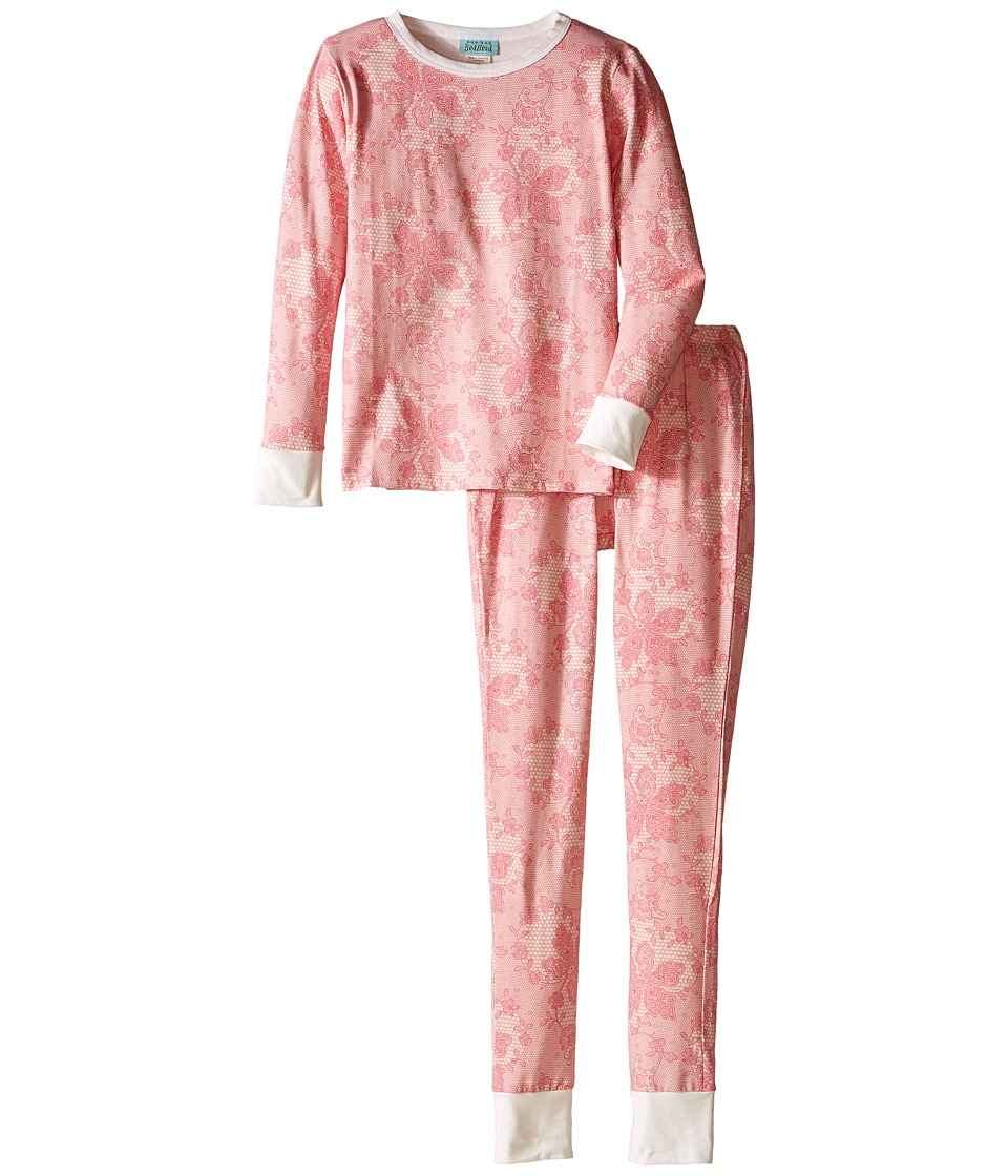 BedHead Kids - Snug Fit L/S Classic PJ (Big Kids) (Coral Chantilly Lace) Girl's Pajama Sets