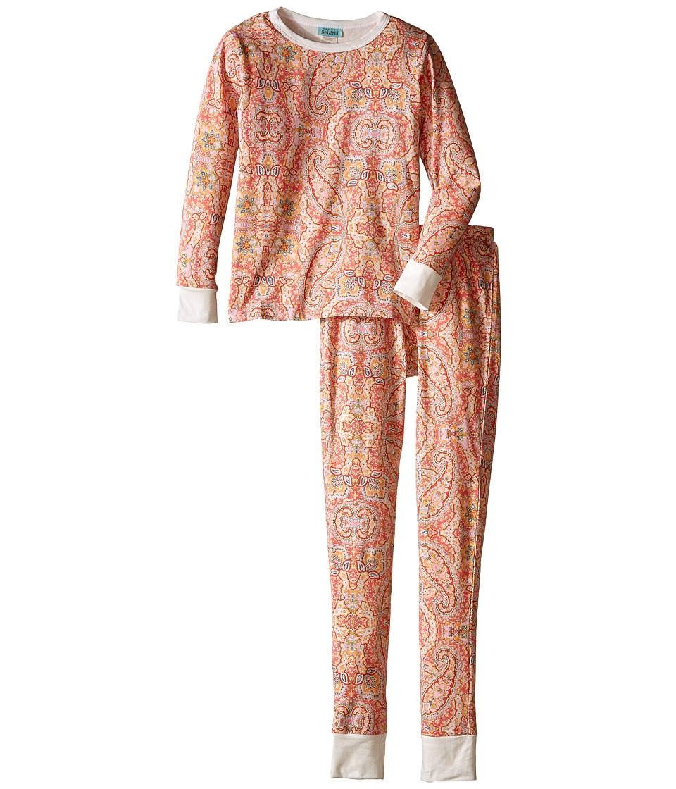 BedHead Kids - Snug Fit L/S Classic PJ (Big Kids) (Coral Boho Paisley) Girl's Pajama Sets