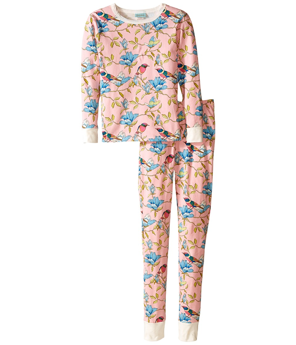 BedHead Kids - Snug Fit L/S Classic PJ (Big Kids) (Pink Botanical Birds) Girl's Pajama Sets