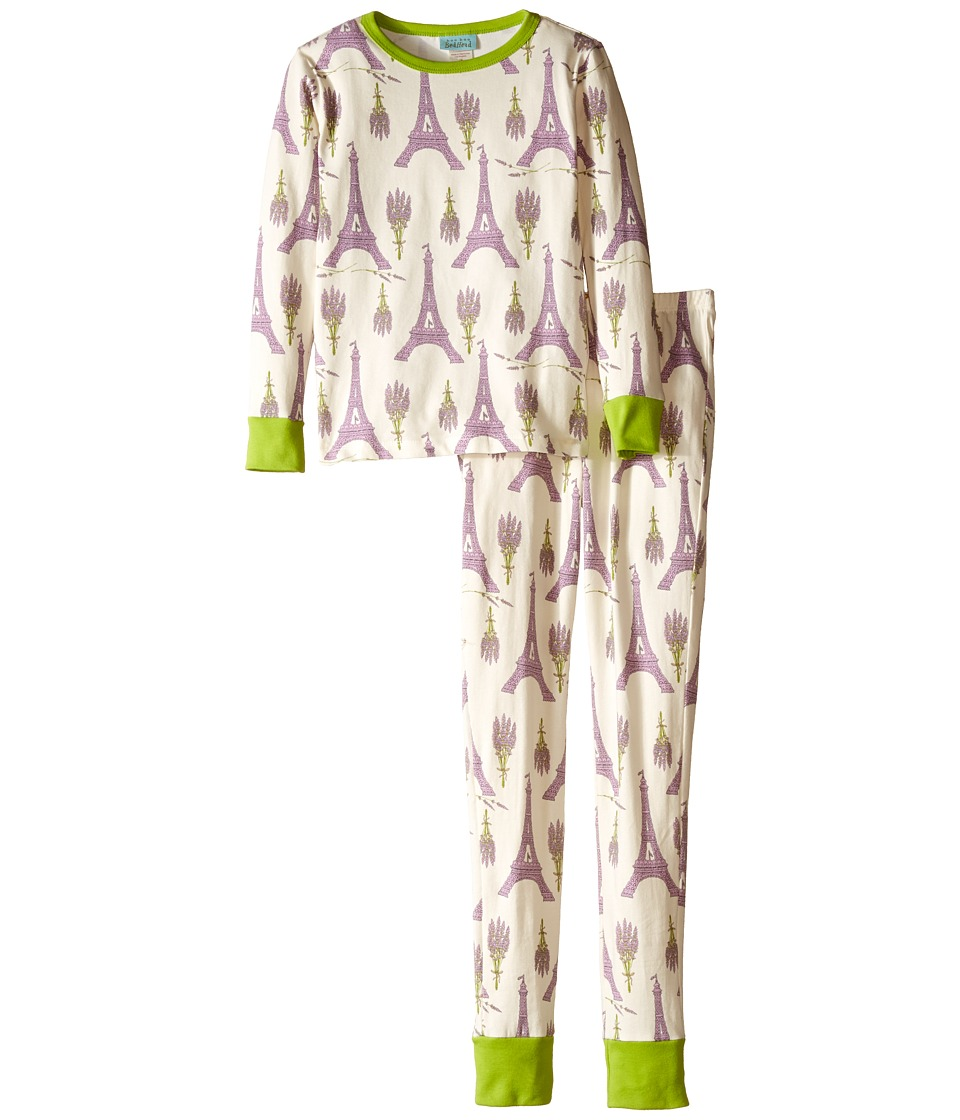 BedHead Kids - Snug Fit L/S Classic PJ (Big Kids) (Lavender Eiffel) Girl's Pajama Sets