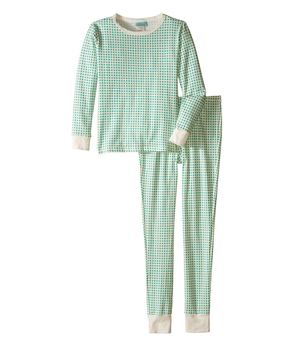 BedHead Kids - Snug Fit L/S Classic PJ (Big Kids) (Turquoise Pearls) Girl's Pajama Sets