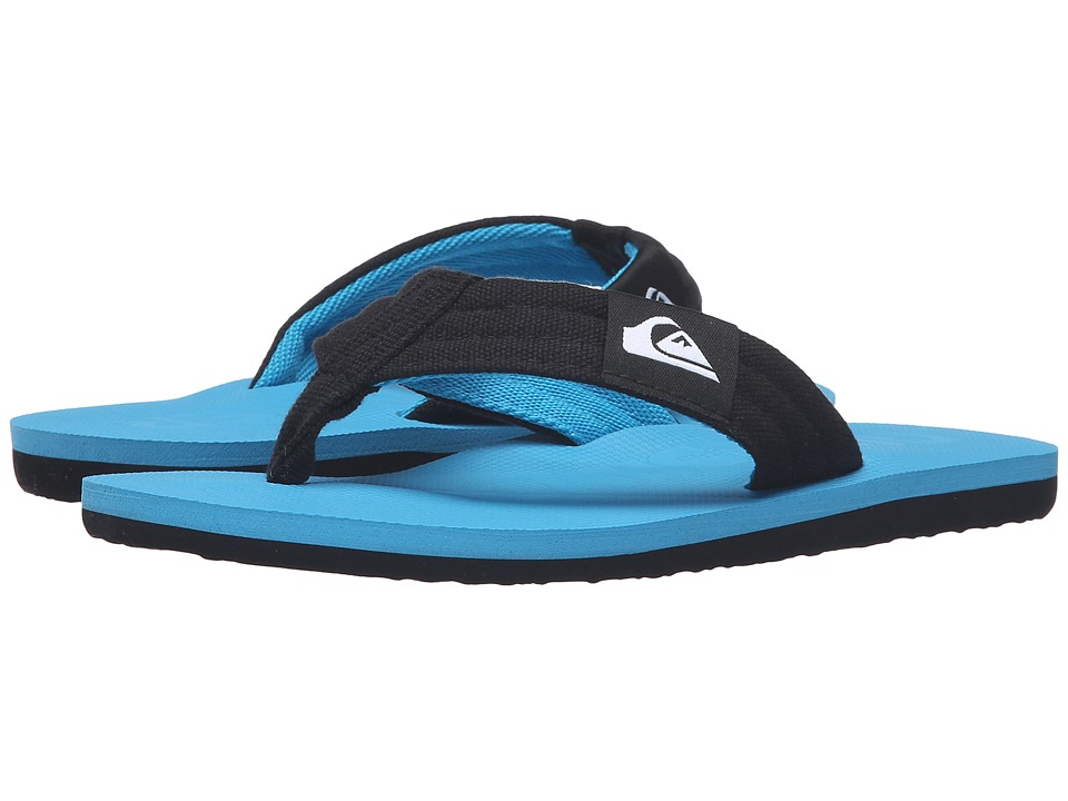 Quiksilver Kids - Molokai Layback (Toddler/Little Kid/Big Kid) (Black/Blue/Blue) Boys Shoes