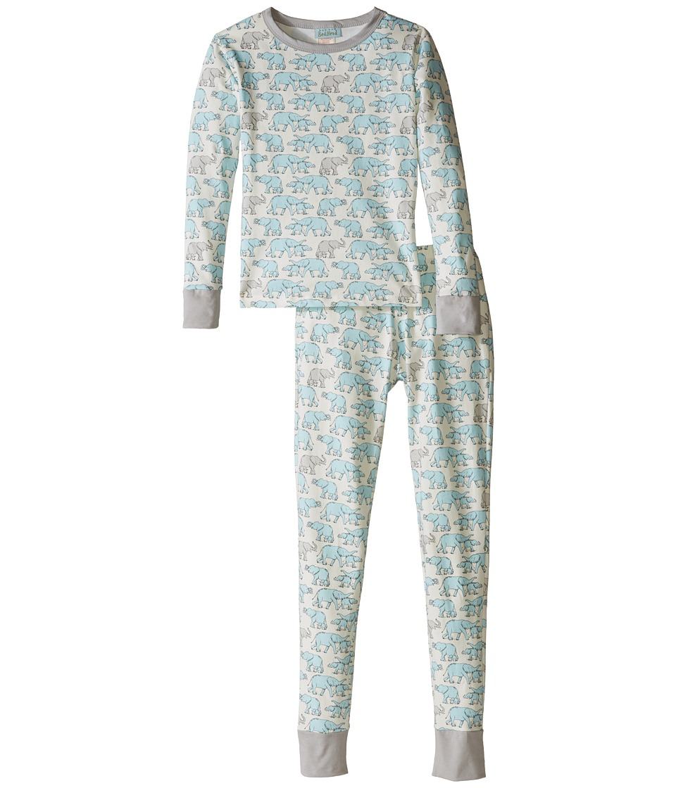 BedHead Kids - Snug Fit L/S Classic PJ (Big Kids) (Blue Elephants) Boy's Pajama Sets