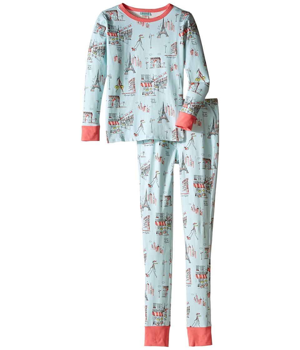 BedHead Kids - Snug Fit L/S Classic PJ (Big Kids) (Blue Cafe Du Paris) Boy's Pajama Sets