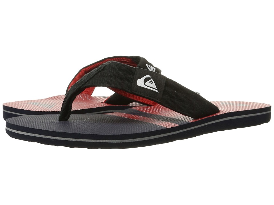 Quiksilver - Molokai Layback (Blue/Red/Black) Men's Sandals