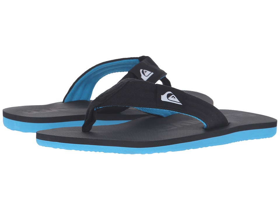 Quiksilver - Molokai Layback (Black/Black/Blue 2) Men's Sandals