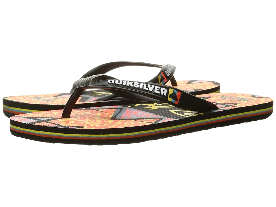 Quiksilver - Molokai Ghetto (Black/Orange/Orange) Men's Sandals