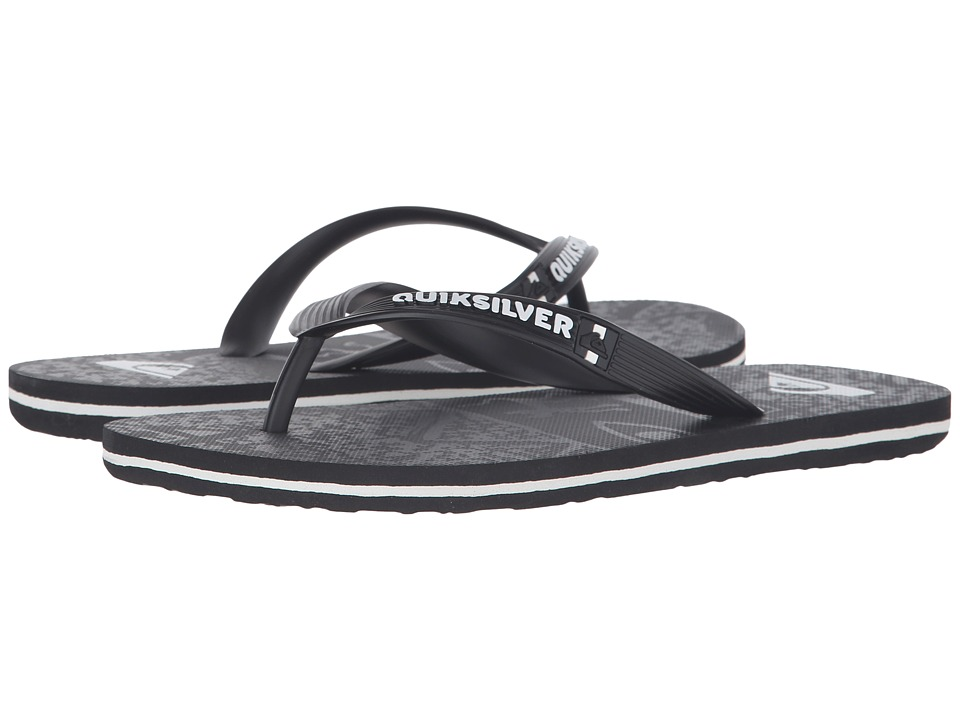 Quiksilver - Molokai Ghetto (Black/Black/Grey) Men's Sandals