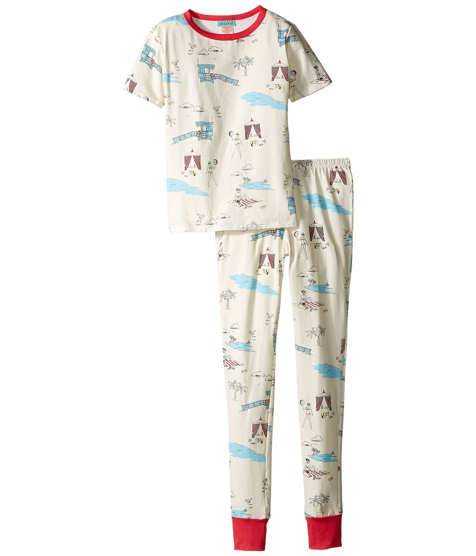 BedHead Kids - Short Sleeve Tween Snug PJ (Big Kids) (Girl On The Beach) Girl's Pajama Sets