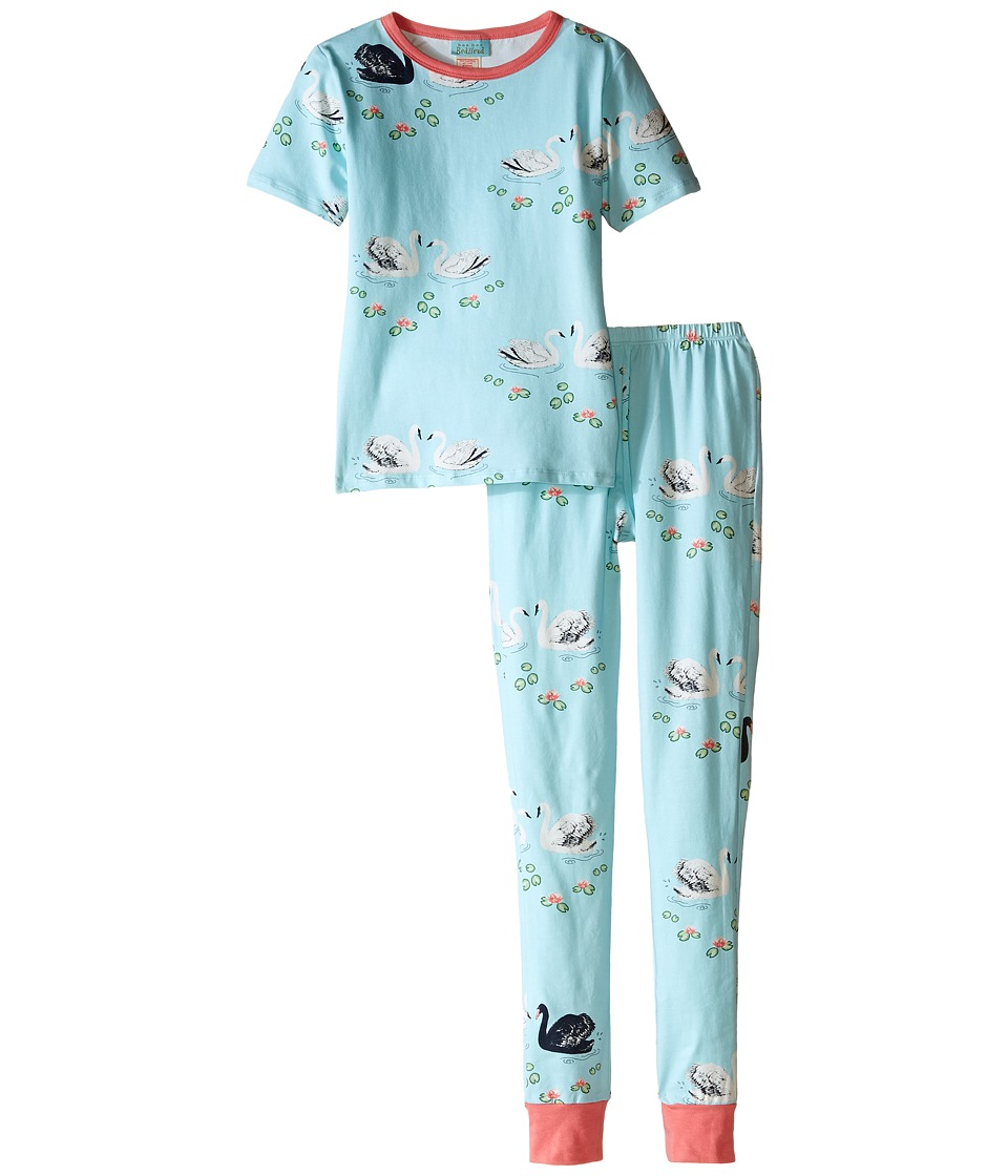 BedHead Kids - Short Sleeve Tween Snug PJ (Big Kids) (Swan Lake) Girl