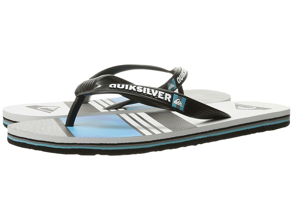 Quiksilver - Molokai Slash Remix (Black/Red/Green) Men's Sandals