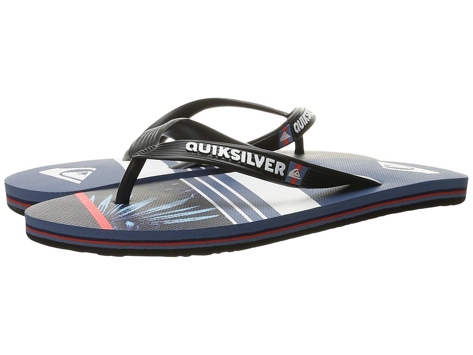 Quiksilver - Molokai Slash Remix (Black/Blue/Grey) Men's Sandals