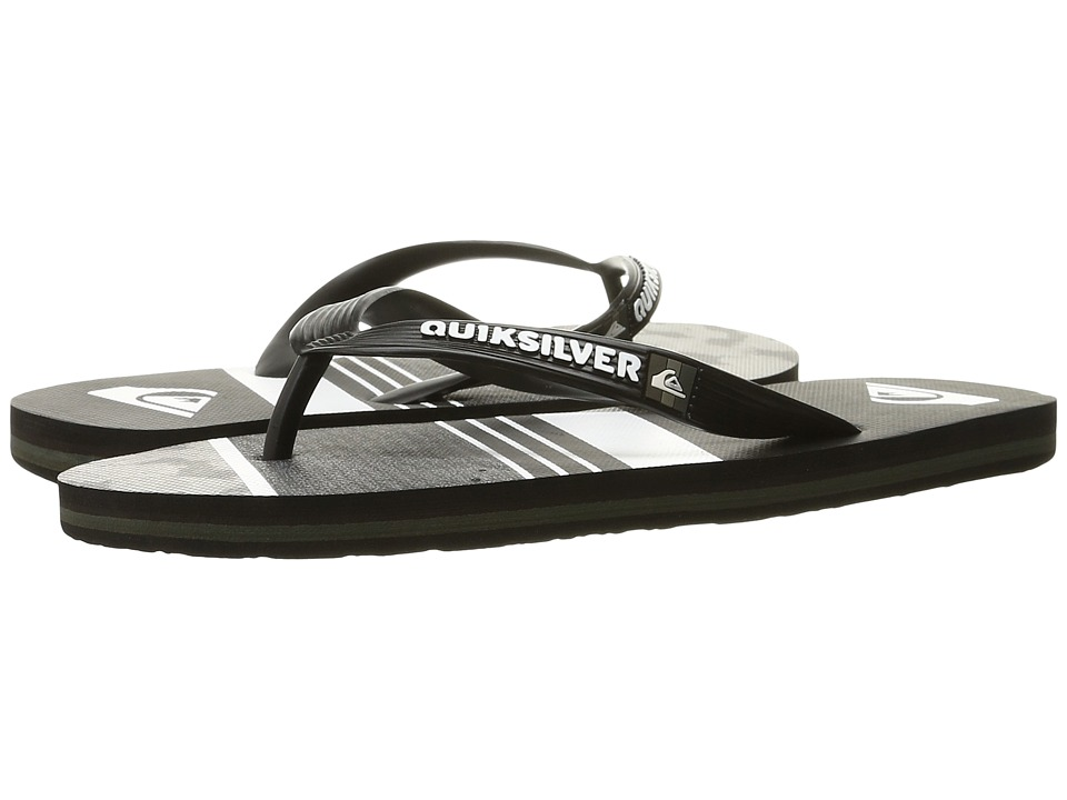 Quiksilver - Molokai Slash Remix (Black/Green/Grey) Men's Sandals