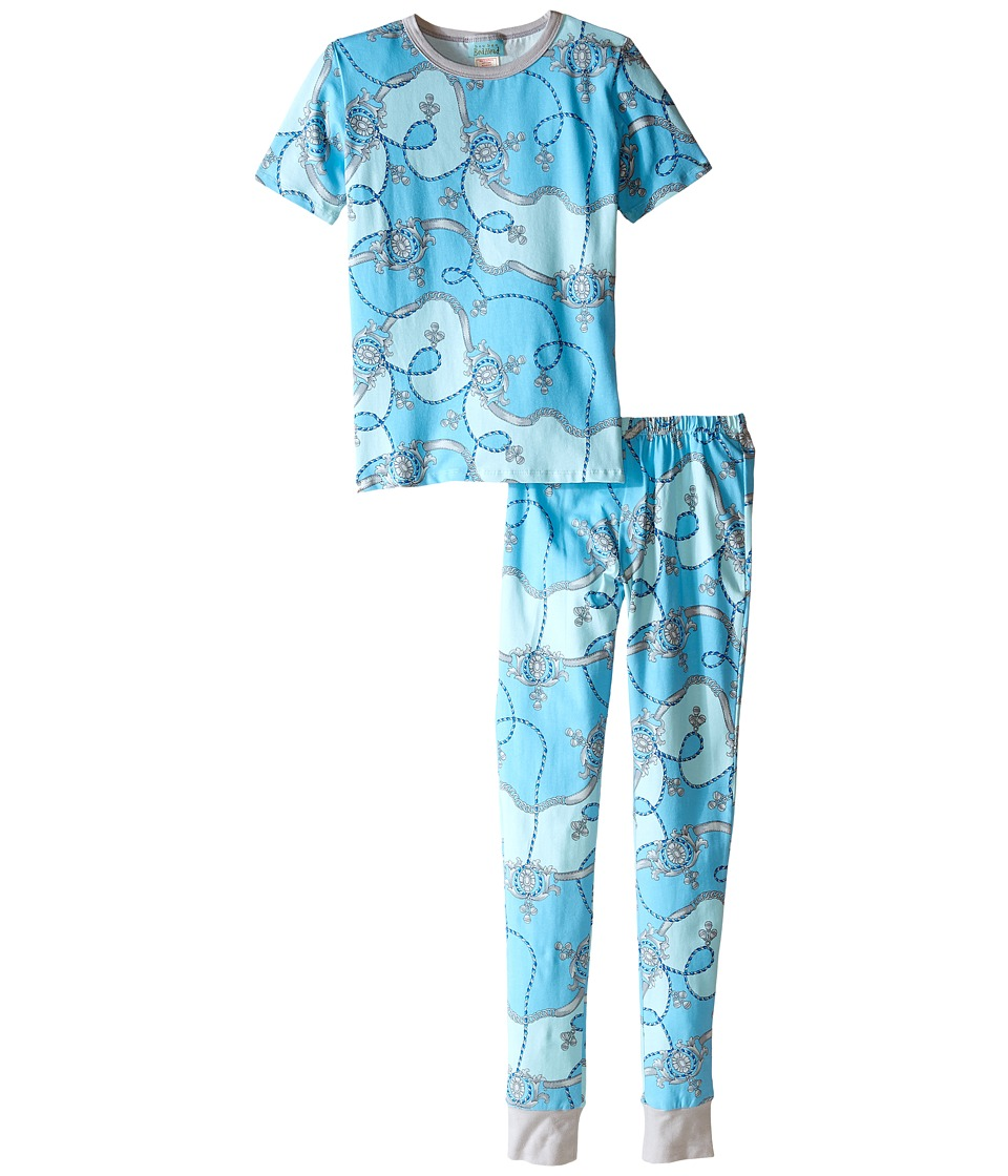 BedHead Kids - Short Sleeve Tween Snug PJ (Big Kids) (Blue Viceroy) Boy's Pajama Sets