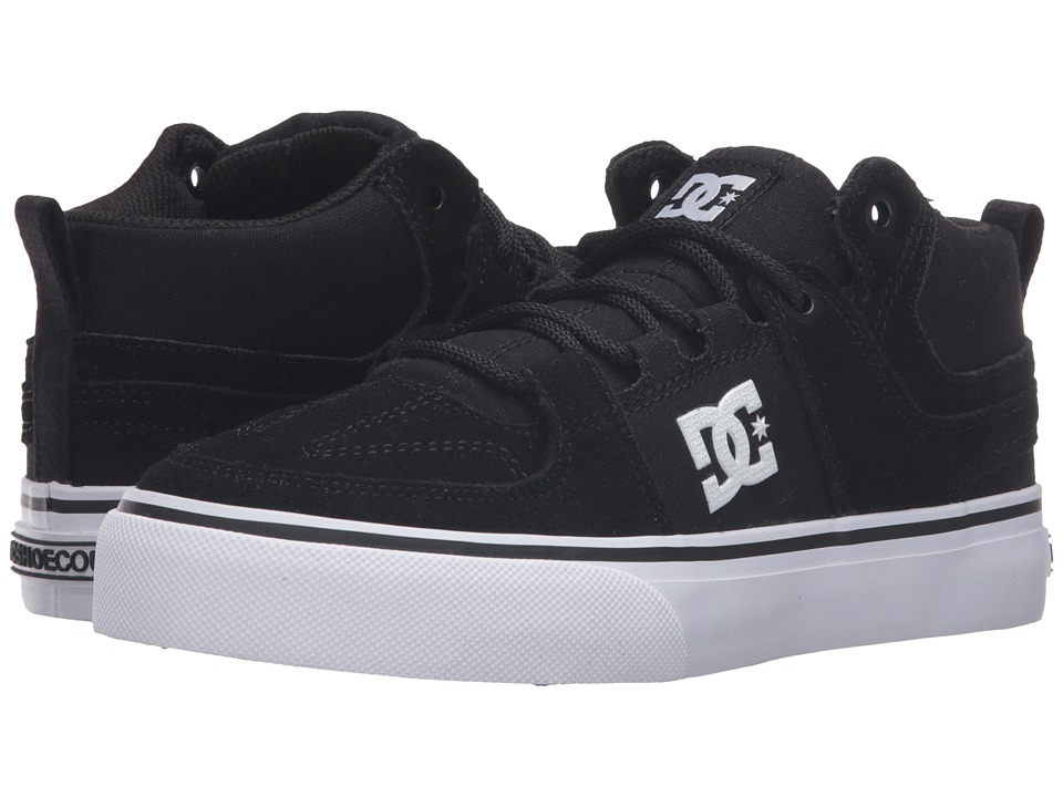 DC Kids Lynx Vulc Mid (Big Kid) (Black/White) Boys Shoes