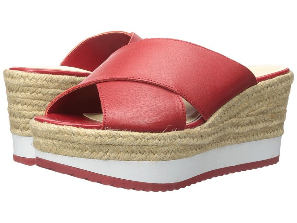 LAUREN Ralph Lauren - Reno (Racing Red Soft Tumbled Burnished Nappa) Women's Wedge Shoes