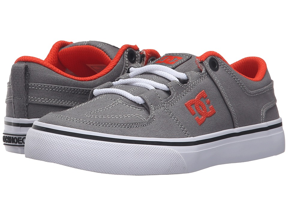 DC Kids - Lynx Vulc TX (Little Kid) (Grey/Orange) Boys Shoes