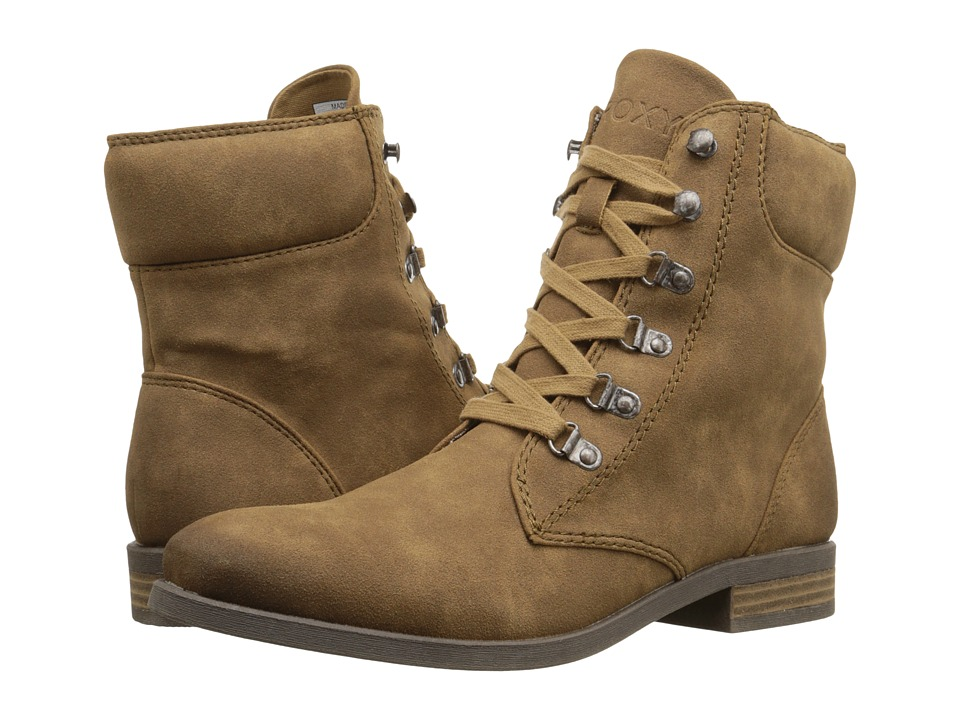 Roxy - Fulton (Tan) Women's Lace-up Boots