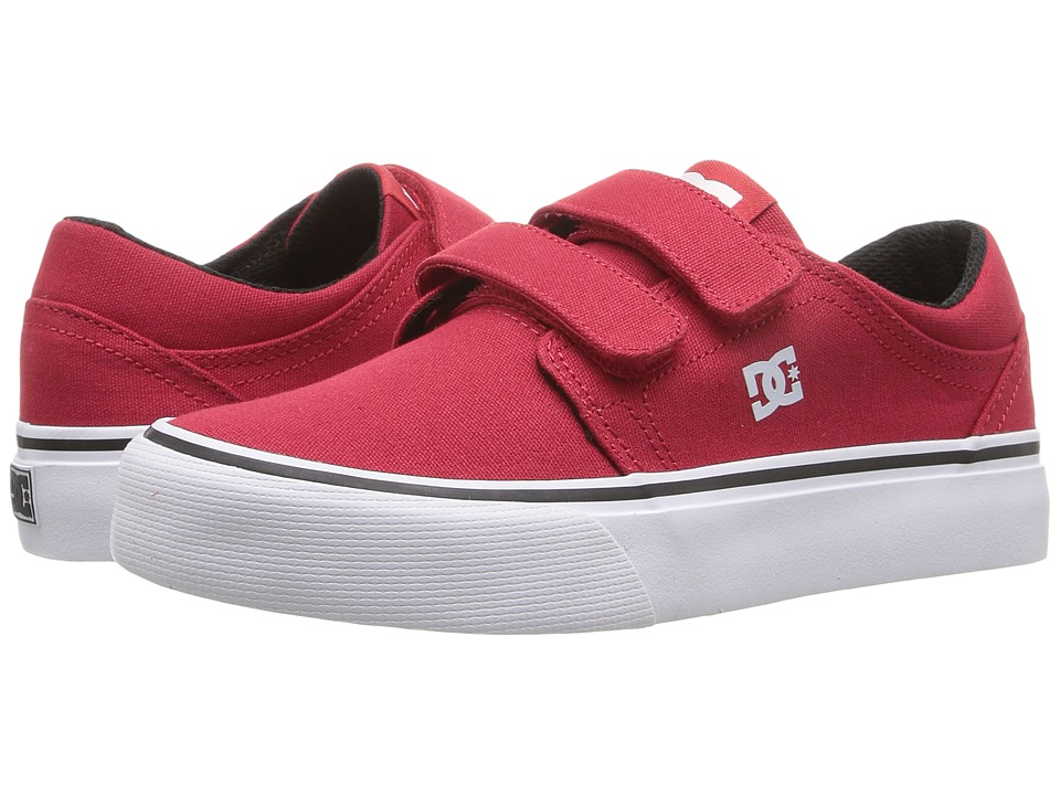 DC Kids - Trase V (Little Kid) (Red/White/Black) Boys Shoes