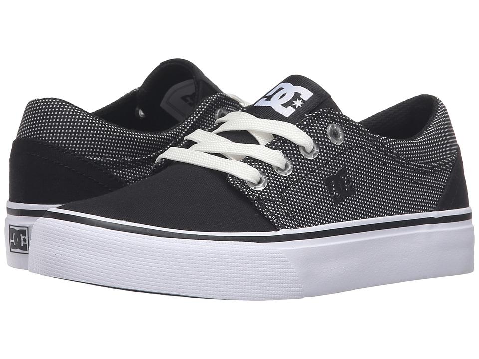 DC Kids - Trase TX SE (Little Kid) (Black/Glow) Boys Shoes