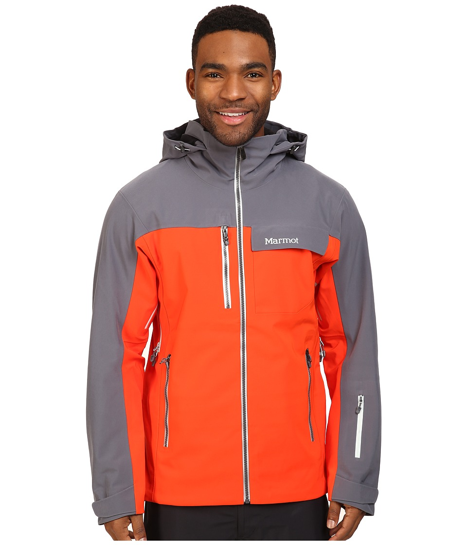 Marmot - Storm King Jacket (Mars Orange/Steel Onyx) Men's Coat
