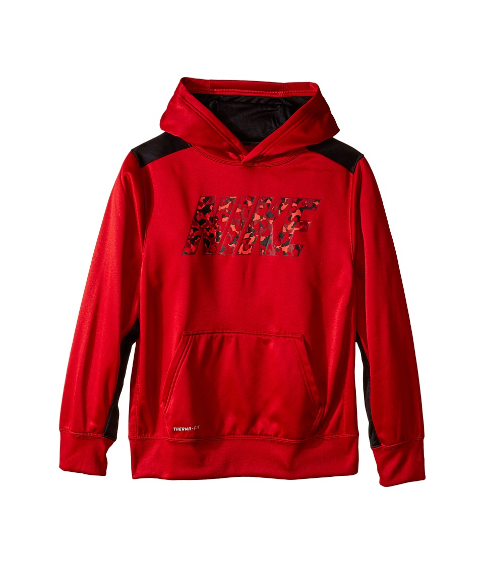 Nike Kids - KO 3.0 Read OTH Hoodie (Little Kids/Big Kids) (Gym Red/Black) Boy