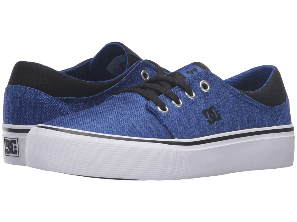 DC Kids - Trase TX SE (Big Kid) (Blue/Black/White) Boys Shoes