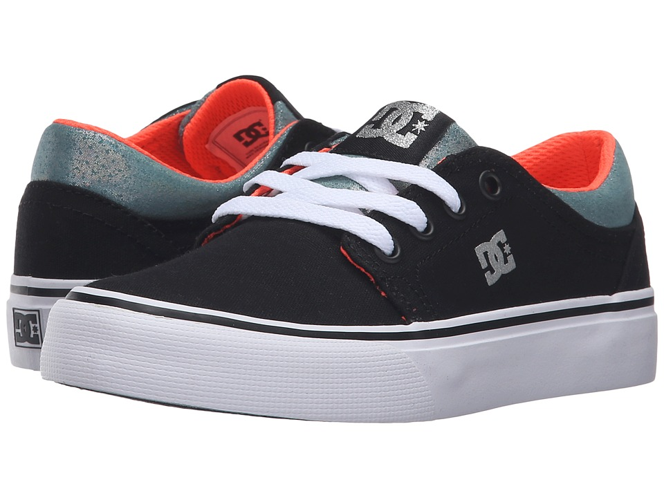 DC Kids - Trase TX SE (Little Kid) (Black/Multi/White) Girls Shoes