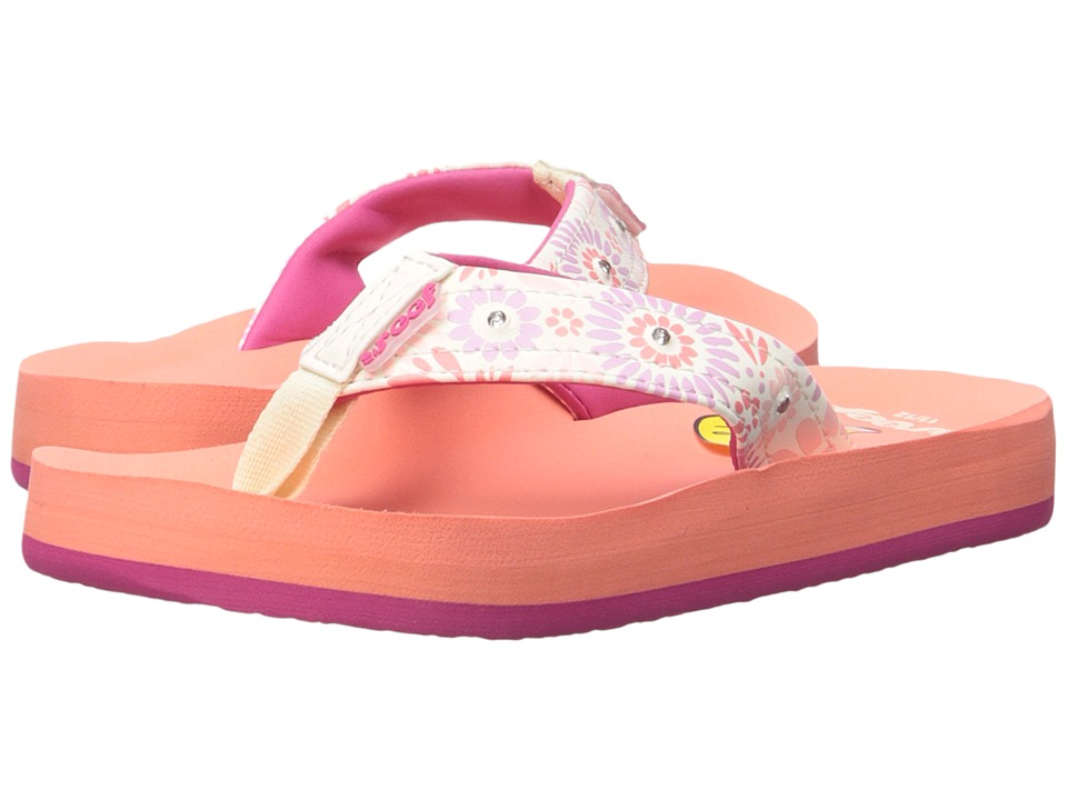 Reef Kids - Little Ahi Lights (Infant/Toddler/Little Kid/Big Kid) (Coral) Girls Shoes