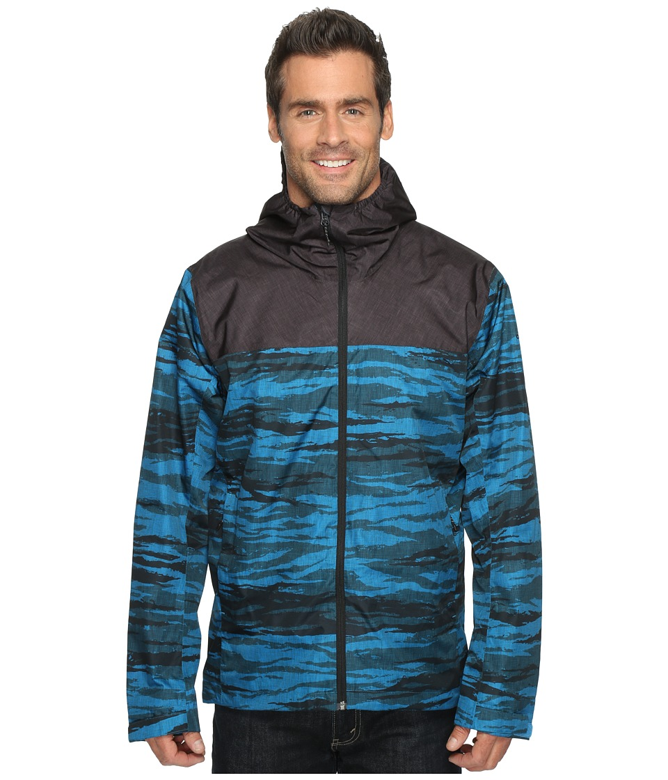 adidas Outdoor - Wandertag Print Jacket (Unity Blue/Utility Black) Men's Coat