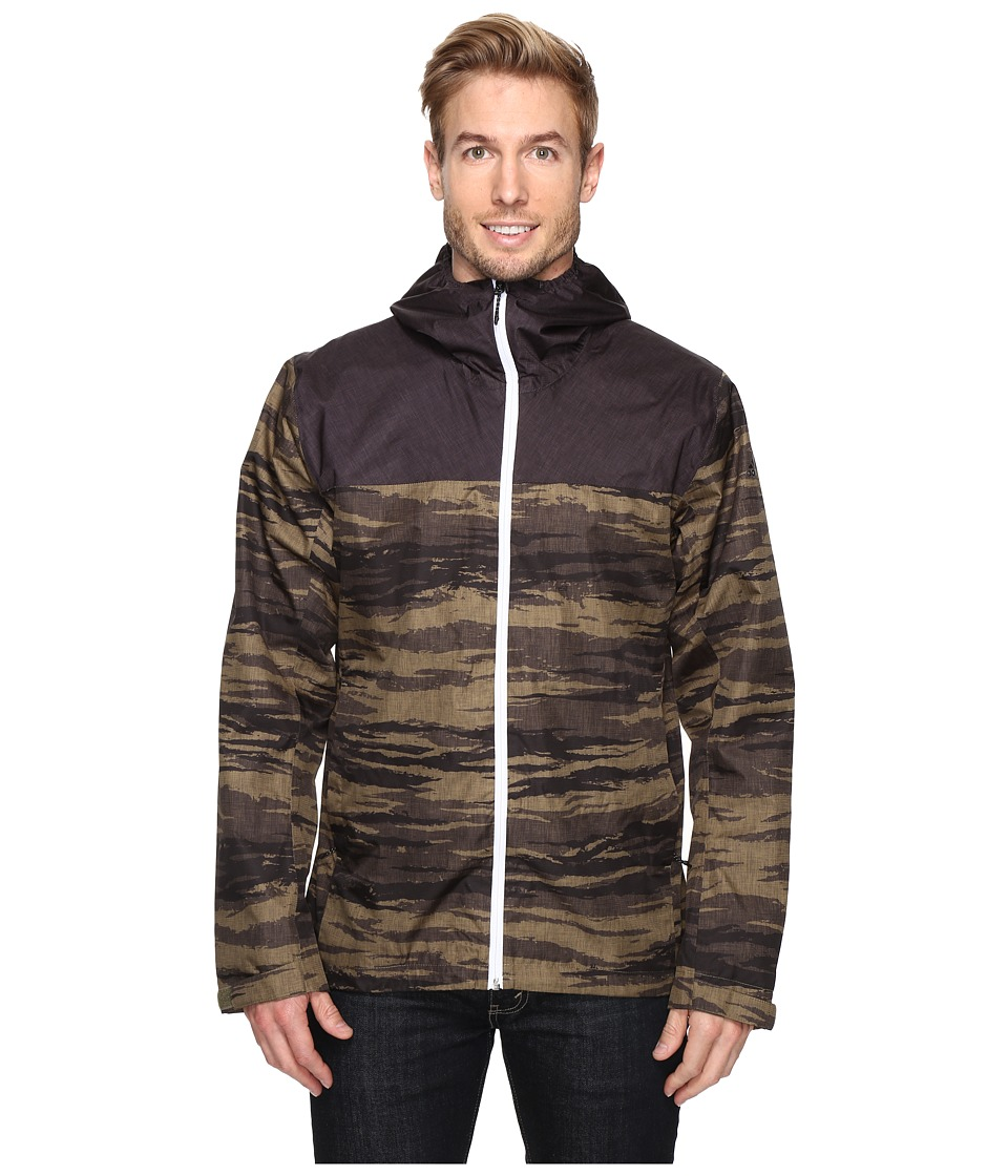 adidas Outdoor - Wandertag Print Jacket (Olive Cargo/Utility Black) Men's Coat