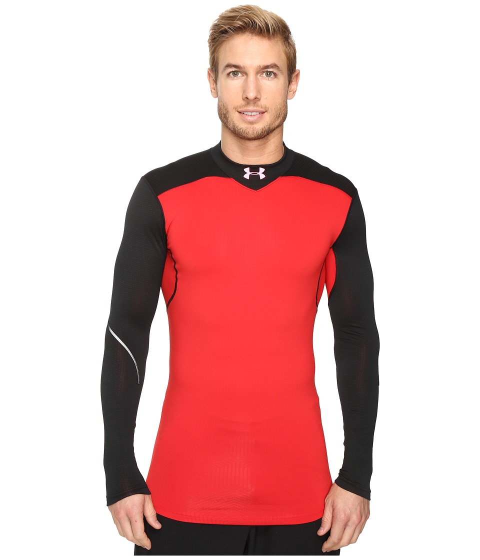 Under Armour - UA Coldgear(r) Armour Elements Mock (Red/Black/Red) Men's Long Sleeve Pullover