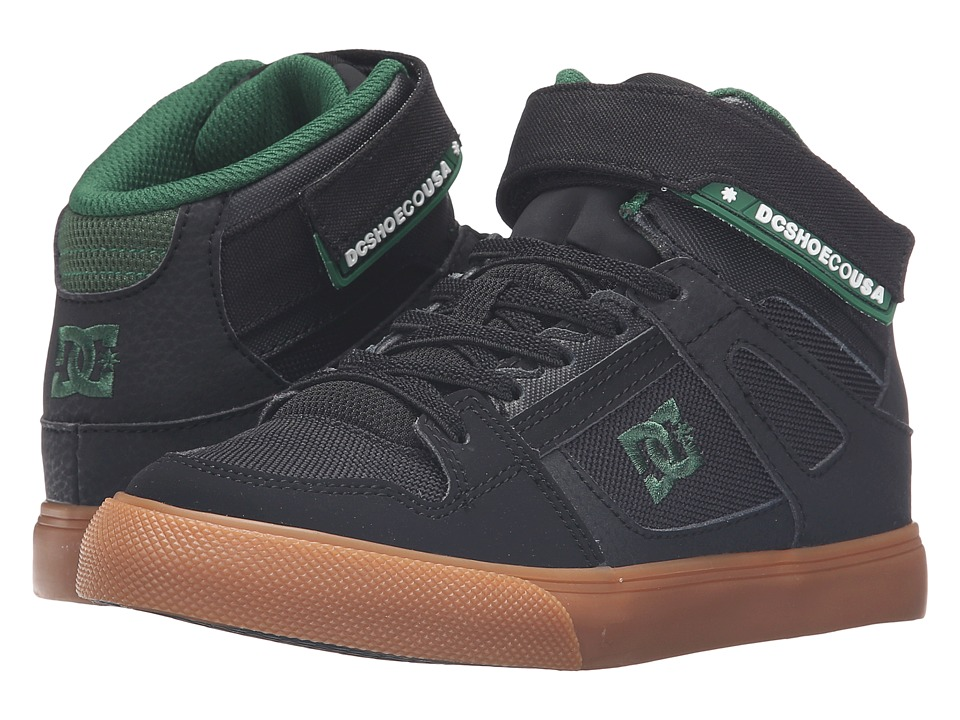 DC Kids - Spartan High EV (Little Kid) (Black/Green) Boys Shoes