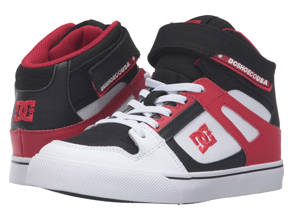 DC Kids - Spartan High EV (Little Kid) (White/Black/Red) Boys Shoes
