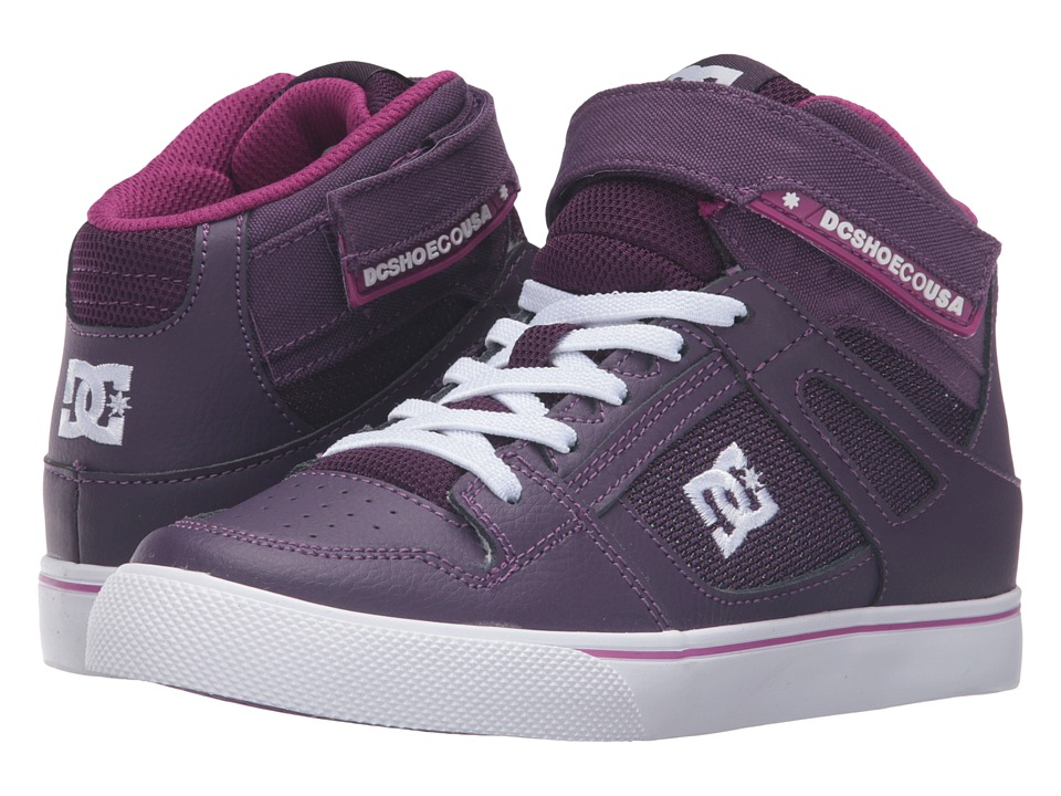 DC Kids - Spartan High EV (Little Kid) (Purple/White) Girls Shoes