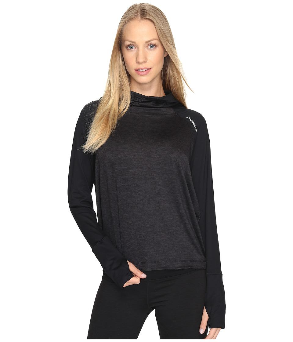 Brooks - Dash Hoodie (Black/Heather Black) Women's Sweatshirt