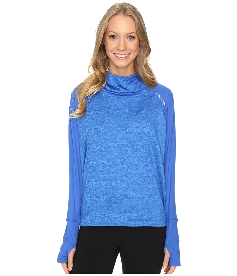 Brooks - Dash Hoodie (Wave/Heather Wave) Women's Sweatshirt
